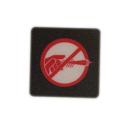 Do not throw logo